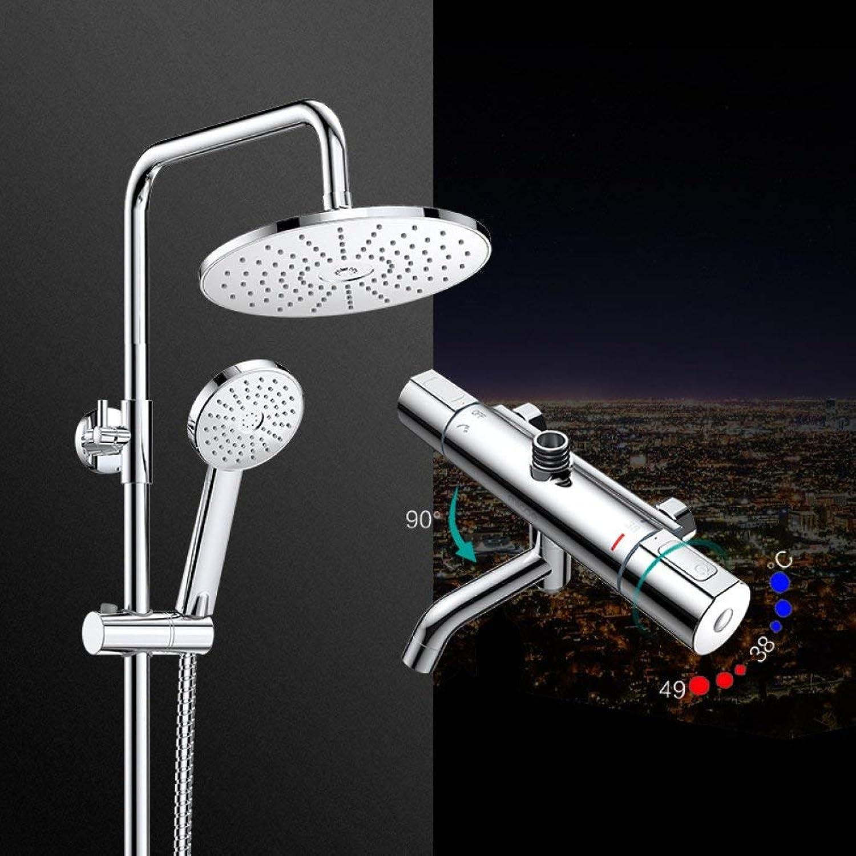 Dusche konstante Temperatur Nehmen eine Dusche Dusche fein Kupfer Wasserhahn Boost drei Funktionen Düse mit Heben eingestellt