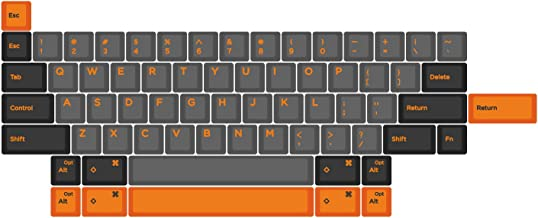 Domikey hhkb abs doubleshot keycap Set dolch Orange hhkb Profile for topre stem Mechanical Keyboard HHKB Professional pro 2 bt (HHKB Kecyap Geeks)