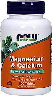 Now Foods Magnesio y Calcio con zinc y vitamina D3 100 Unidades 220 g