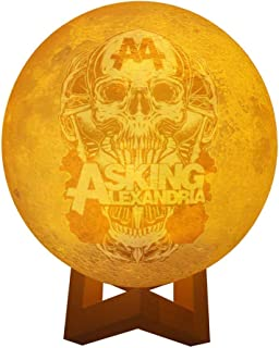 Asking Alexandria Band Personalized Photo Night Light Customized 3D Printing USB Charging Moon Lamp Moon Light Night Light for Kids Gift for Women Mother's Day Gift 5.9inch/15cm