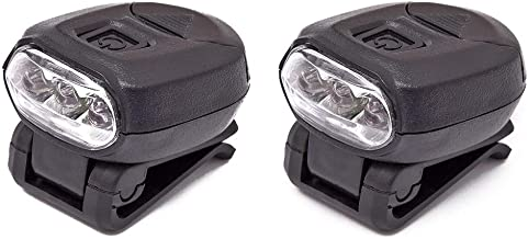 2pcs Fishing Cap Lamps Freehawk Hat Clip Headlamp 3 LED Hands Free Baseball Caps 360°Rotating 90°Adjustable Zoomable Light for Fishing Camping Hiking 2CR2032 3v (2pcs)