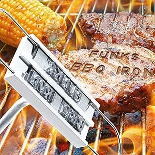funks BBQ IRON バーベキュー アイロン 焼印 アルファベット文字の焼印 焼きごて