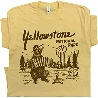 Yellowstone National Park T Shirt Wyoming Grand Tetons Tee Vintage Old Faithful Mens Womens Souvenir Graphic