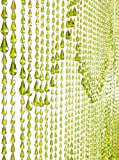 ShopWildThings Beaded Curtain Raindrops Green Non-Iridescent Acrylic