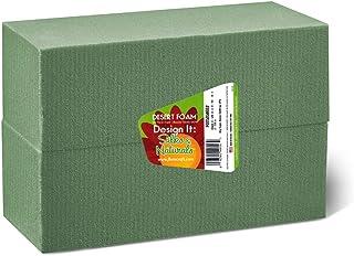 FloraCraft Floral Dry Foam 2 Piece Brick 2.6 Inch x 3.5 Inch x 7.8 Inch Green