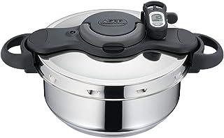 Seb - P4665416 - Autocuiseur Clipso Minut' Duo Gourmet 5 L Inox Tous Feux Dont Induction + Minuteur + Livre de Recettes