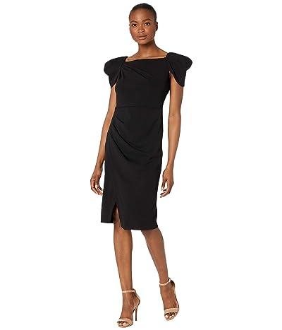 Calvin Klein Cap Sleeve Sheath with Ruched Detail Women