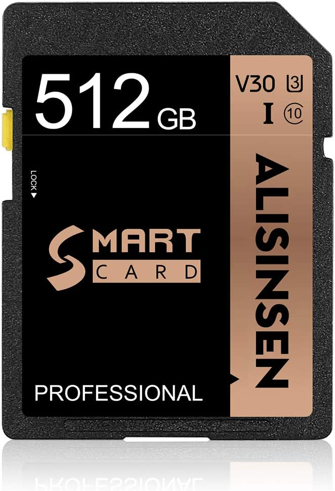 SD Card 512GB SD Memory Card 512GB TF Card Class 10 Fast Speed Security Digital Flash Memory Card Class 10 for Camera,Videographers&Vloggers and Any Other Device Compatible with The SD Card