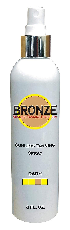 BRONZE - Sunless Self Tanning Spray + oz Deluxe Pump 8 Indefinitely DARK INCLU