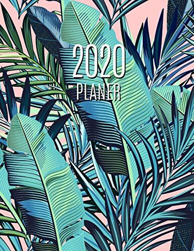 Palmblatt Planer 2020: Wochenplaner 2020   Monatsplaner 12 Monate Organizer   Einfacher Überblick über die Terminpläne   Agenda mit Raum für Notizen