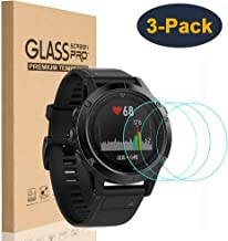 HEYUS [3 Pack] Tempered Glass Screen Protector 9H Hardness Protective Glass for Garmin Fenix 5S, 2.5D Full Coverage High Definition Premium Clear Smartwatch Accessories