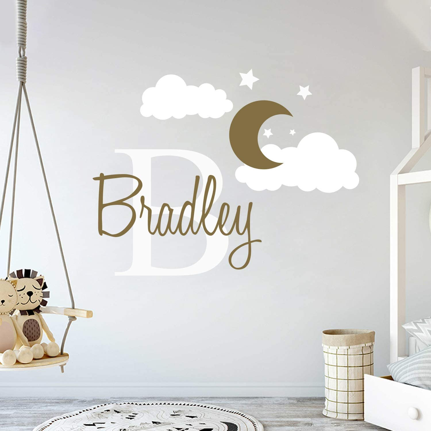 Custom Name Initial Moon Clouds Stars - Wal service Sales of SALE items from new works Nursery Boy Baby