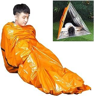 1 saco de dormir impermeável para alívio de desastres ao ar livre 203 x 91 cm, emergência para atividades e caminhadas, ac...