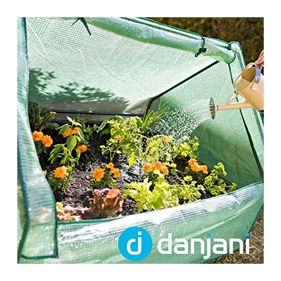 Danjani outdoor raised garden bed with drop over greenhouse - durable, anti-rust steel flower beds - 71. 3 gal planter… 9 perfect for every gardener: whether you're an experienced gardener or as new as freshly grown sprouts, this raised garden bed kit is perfect for you. The planter box makes growing herbs, vegetables and plants easy and stress-free. Enjoy low maintenance with the greenhouse, which provides weather protection, keeping heat and moisture in, and bugs and critters out. Protect and nourish plants: the greenhouse drop over can increase plant yield by providing a warm and nourishing environment to grow in. It also protects from extreme weather, making it possible to grow plants that normally wouldn't fare well in your area. Enjoy year-round fruits and vegetables with the option to grow in the winter. Save money: the rising cost of herbs and produce makes eating healthy an expensive option. But it doesn't have to. Growing your own food can be rewarding, not only for your body and mind but for your wallet too. Have year-round access to some of your favorite fruits, vegetables, and herbs with only the minimal cost of growing them!