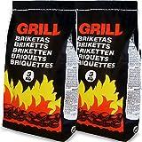Deuba 6 Kg Grillbriketts 2 x 3kg Holzkohle Grillkohle Holzkohlebriketts Holzkohlegrill Grill
