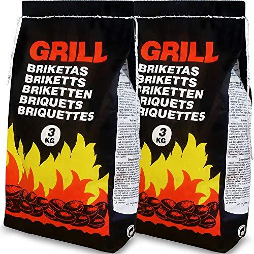 Deuba 6 Kg Grillbriketts 2 x 3kg...