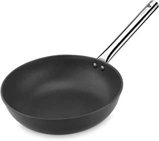 Pujadas Black–Wok en Fonte d'aluminium, Manche en Acier Inoxydable, 30cm, Couleur Noir