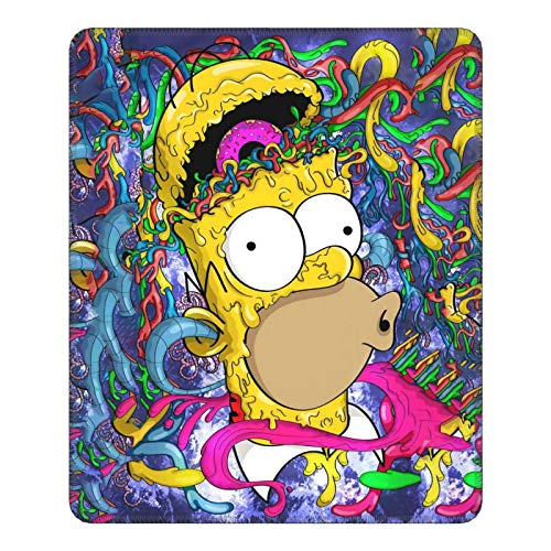 The Simpsons Rubber Overlocked Mouse Pad with Non-Slip Rubber Base (with Stitched Edges), Used for Computers, Laptops, Offices and Homes. Mouse Pad 2530 (Vertical)