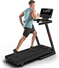 RUNOW Folding Treadmill with Incline for Home/Apartment, Electric Running Machine, Treadmill with LCD Monitor Running Walk...