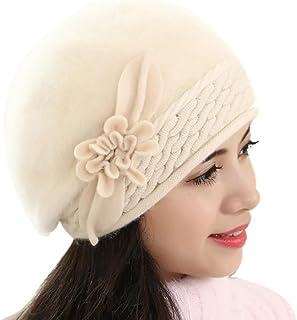 Winter Hat, ღ Ninasill ღ Exclusive Slouch Baggy Warm Soft Knit Crochet Hat (Beige)
