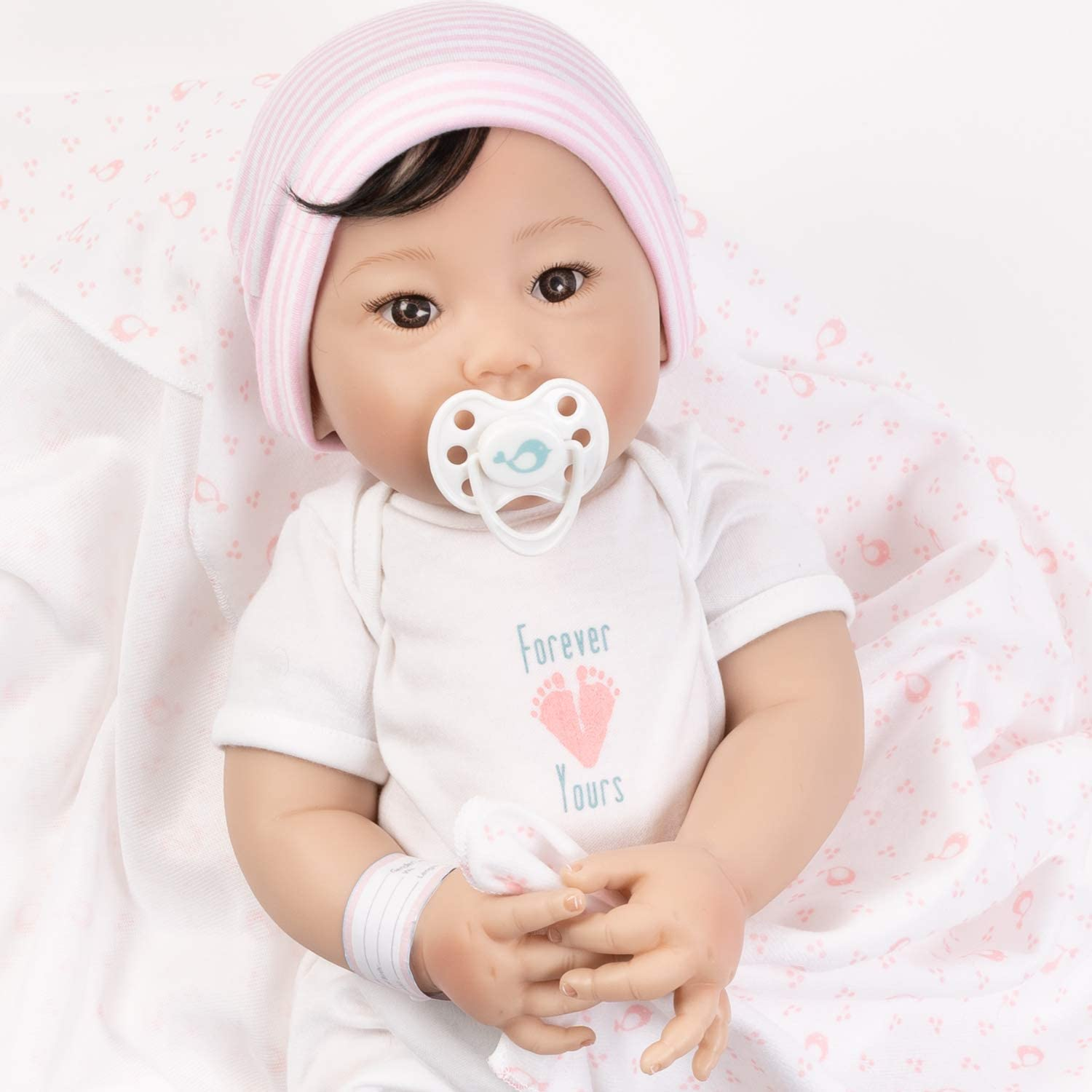 Paradise Galleries Asian Ranking TOP4 Realistic Newborn Baby with Rooted Doll Price reduction