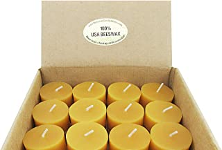 Beeswax Candle Works - 6 Hour Tea Light Refills 60-Pack - 100% USA Beeswax