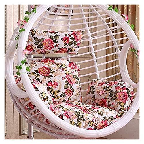 XiYou Muebles de jardín, Cojines para sillas, Columpio de ratán, Columpio, jardín, Patio, Interior, Exterior, cojín para Silla de Huevo y Cubierta