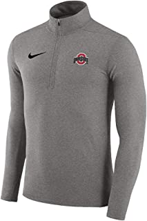 Men's Nike Ohio State Half Zip Pullover Dri-Fit Element Top - Gray (Large)