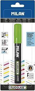 Milan- Fluoglass Gomas de borrar, Color Blanco, pequeño (MBWM10391)