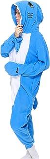 ملابس داخلية للبالغين بيجامات Cosplay Unsiex Shark Animal Homewear ملابس نوم بذلة للنساء والرجال