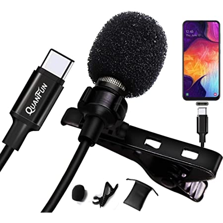 Conference for iPhone//iPad//iPod Interview Professional for iPhone Lavalier Lapel Omnidirectional Condenser Mic Phone Audio Video Recording Easy Clip-on Lavalier Mic for YouTube