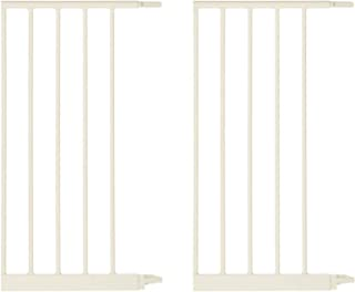 North States Wide Portico Arch Baby Gate 5 Bar Extension, Ivory (2 Pack)