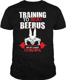 Training to Beat Champa T Shirt, Beerus T Shirt