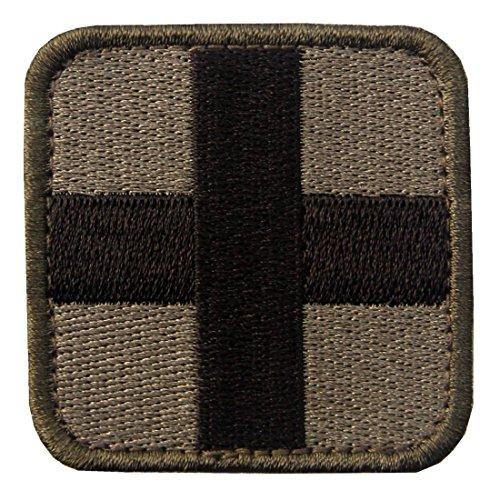 Táctico Cruz Medic Moral del ejército Broche Bordado de Gancho y Parche de Gancho y bucle de cierre, Multitan