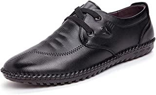 2019 Mens New Lace-up Flats Men's Formal Oxford Shoes, Lace Up Style Microfiber Leather Soft British Style Round Toe