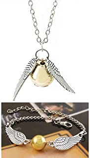Bigib Set of Necklace and Bracelet for HP Fans Merchandise