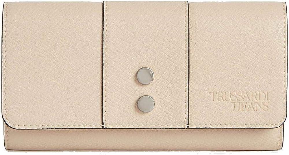 Trussardi jeans, portafogli, porta carte di credito,  in pelle ecologica 75W00123