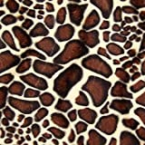 Fabulous Fabrics Fellimitat braun, Tier, 147cm breit – zum Nähen von Jacken, Kleidern oder Mänteln - Meterware erhältlich ab 0,5 m