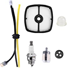 Podoy SRM210 Air Filter RePower Kit with Spark Plug Primer Bulb Fuel Line Hose for Echo GT200 PE200 HC150 String Trimmer
