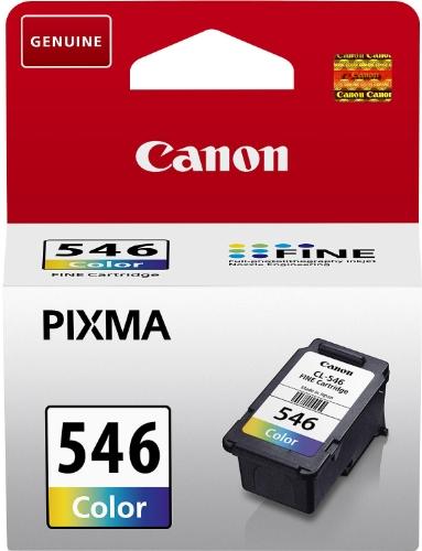 Canon CL-546 Cartucho de tinta original Tricolor para Impresora de Inyeccion de tinta Pixma TS3150-TS3151-MX495-MG2450-MG2550-MG2550S-MG2555S-MG2950-MG3050-MG3051-MG3052-MG3053-IP2850