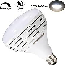 LeMeng BR40 Dimmable LED Pool Bulb Light, 300watts Halogen Bulb Replaceme,30W BR 40 LED 3000LM 120V E26 Base, 6000K Cool Day White 120°Degree Wide Flood Light Par38,UL Certified, 1 Pack