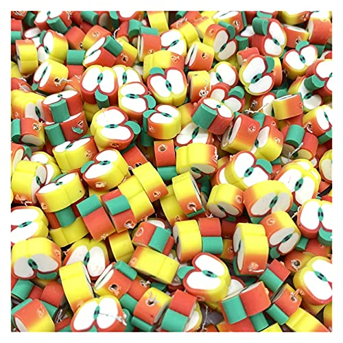 BOSAIYA Zz0 30 unids/Lote 10 mm Beads de Frutas Polímero Clay Beads Color Mezclado Polmer Polmer Spacer Beads para joyería Fabricación de Bricolaje Collar de Pulsera Tl519 (Color : 03)