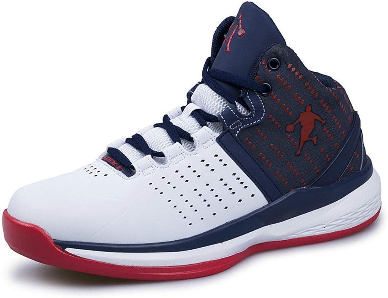 ZHRUI Men Basketball shoes Couple Midium Cut Basketball Sneakers Male Sport shoes (color   White, Size   5.5=39 EU)
