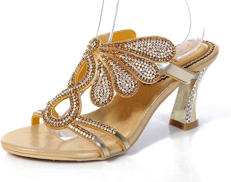 Doris Fashion gs-T015 Women's Glitter Rhinestones Sandals Evening Wedding Heels