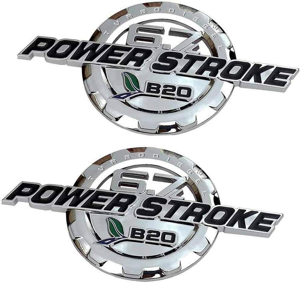 2 Pack 6.7L Powerstroke Emblems Diesel Elegant Turbo Max 62% OFF Power Stroke Door