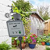 NUB Smart Irrigation Sprinkler Controller Smart Sprinkler Timer WiFi Automatic Watering System with Remote Access, Works with Google Home and Alexa,C