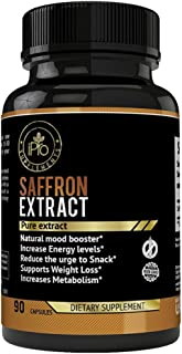 Pure Saffron Extract for Eye Health- Natural Appetite Suppressant Weight Loss Pills- Mood Booster Anti-Anxiety Saffron Sup...