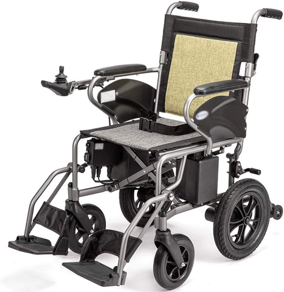 GAXQFEI Plegable doble función Silla de ruedas eléctrica, inteligente silla de ruedas eléctrica automática, Anchura del asiento 41 cm, Capacidad de carga 100 Kg,