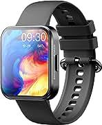"""ساعت هوشمند MISIRUN 1.71 """"Full Touch Fitness Tracker with Monitor ضربان قلب پیام هشدار هشدار ، IP68 ردیاب فعالیت ضد آب با 20 حالت ورزش برای زنان مردان برای گوشی های آندروید iOS"""