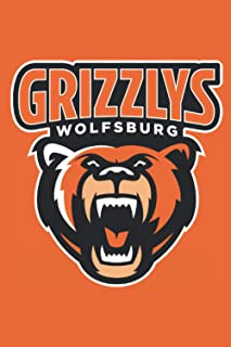 Grizzlys Wolfsburg Notebook: Minimalist Composition Book | 100 pages | 6 x 9 | Collage Lined Pages | Journal | Diary | For Students, Teens, and Kids ... School, College, University, School Supplies